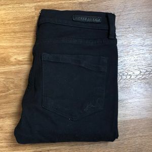 Express High waisted distressed black jeans
